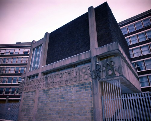 A Brutalist church in Lambeth. Back in Dec 2010.