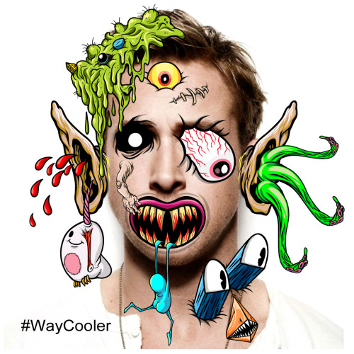 Ryan Gosling was cool. But now Ryan Gosling is WAYCOOLER, thanks to my new FREE art/photo app that you can download FREE in the app store. It doesn't stop with Gosling. Make EVERYTHING #WAYCOOLER. Did I mention it was FREE?