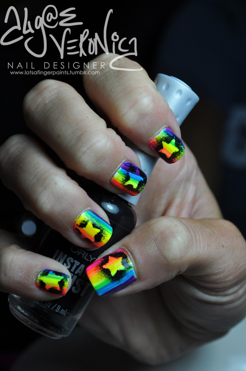 Graffiti Stars on Rainbow