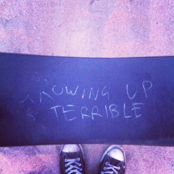 Poignant swing graffiti   (Taken with Instagram)