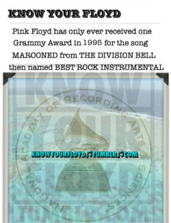 knowyourfloyd:  What an unbelievable snub, the Grammys are all rigged anyway, right?