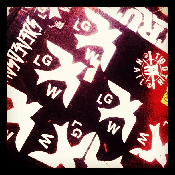 Couple stickers on the pedalboard case. @letgodwork  (Taken with Instagram)