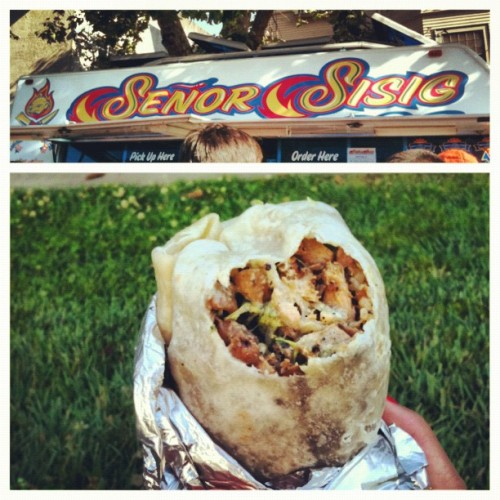 👌 #offthegrid #july #summer #dinner #burrito #filipino  (Taken with Instagram)