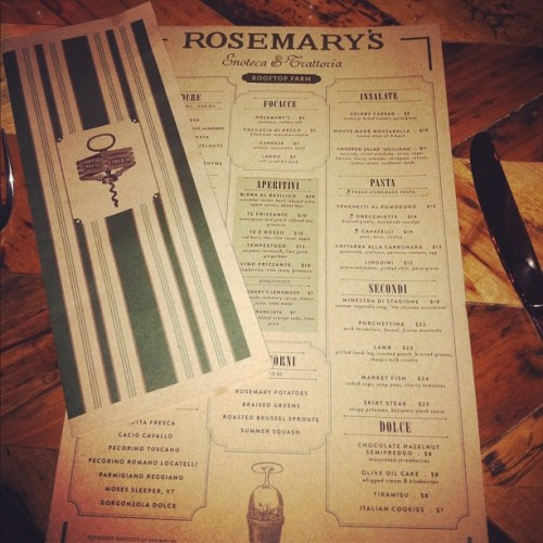 Hello Rosemary's. 18 Greenwich Ave at W 10th Street. (Taken with Instagram)