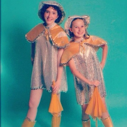 Singin' in the Rain tap dance duet with the best friend circa 2004! Tribute to the movie's 60th anniversary. Ahhh gotta find the DVD of the dance routine (Taken with Instagram)