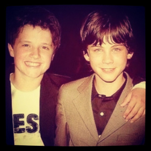 stolen-bookmarks:  Josh Hutcherson and Logan Lerman.