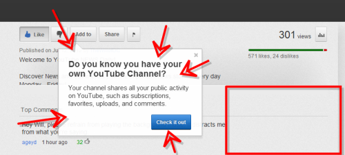 YouTube just let know that I HAVE A YOUTUBE CHANNEL.  WHAT THE HOLY MOTHER OF WHAT!!! I HAD NO IDEA.