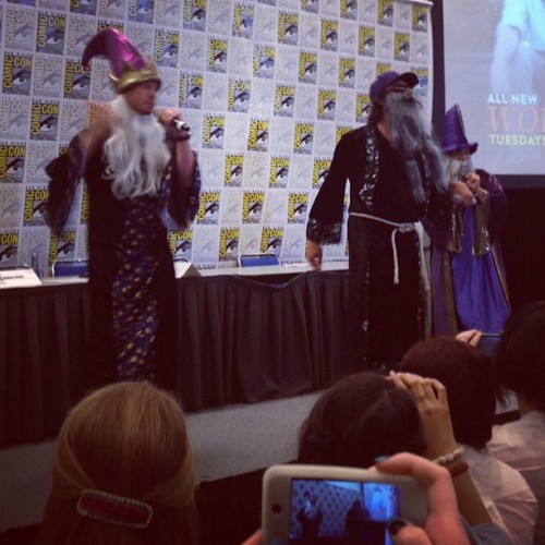 comedycentral:  Workaholics wizards getting lyrical. #sdcc #comicon #workaholics (Taken with Instagram)