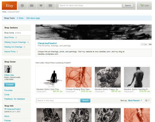 I just opened an Etsy shop for my fine arts work!  Visit today!