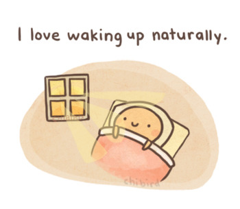 chibird:  Instead of dragging myself out of bed in response to my alarm, I get to open my eyes to the sunshine and happiness of a summer day. ;u;
