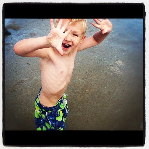 Jackson at the beach #beach #jackson #maine (Taken with Instagram)