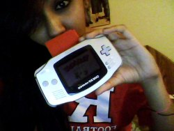 likefireandice:  RU swag. & boyfriend's Game Boy Advance playing Pokemon Red (: oh aight i see you babe (;<3