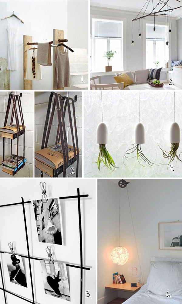 cabbagerose:  hang-it diy roundup via: hvhinteriors for instructions, visit Holly at hvhinteriors