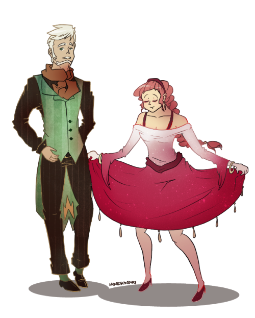 windpriest:  Formal attire for Selena and Delos (two of my OCs) if they were attending the Idrisfall royal ball UvU Animated version here