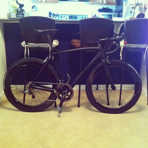 It's mine!!! My new Specialized Tarmac SL4 LTD Black (Taken with Instagram)