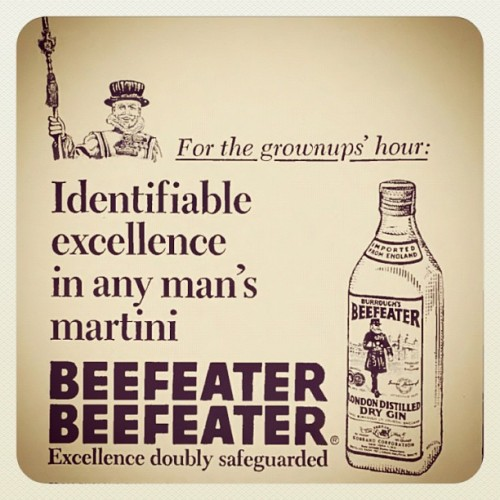 #Beefeater #drygin #gin #oldads  (Taken with Instagram)