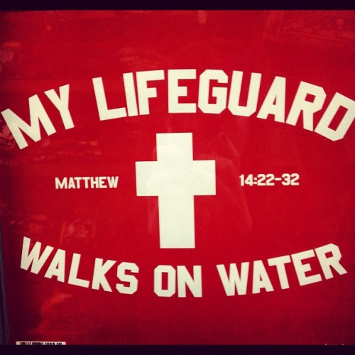 thebrilliantgenius:  #Amen!! :D #Jesus #Christ is my #lifeguard! #faith. (Taken with Instagram)  I like, I like. (: