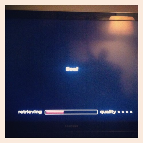 Watching BEEF. @djacslater choice (Taken with Instagram)