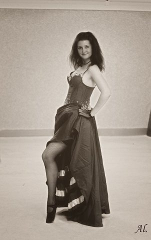 me dancing Can-Can in 2008! I had a lot of fun. :) photo by Aleksandra Kaltykova