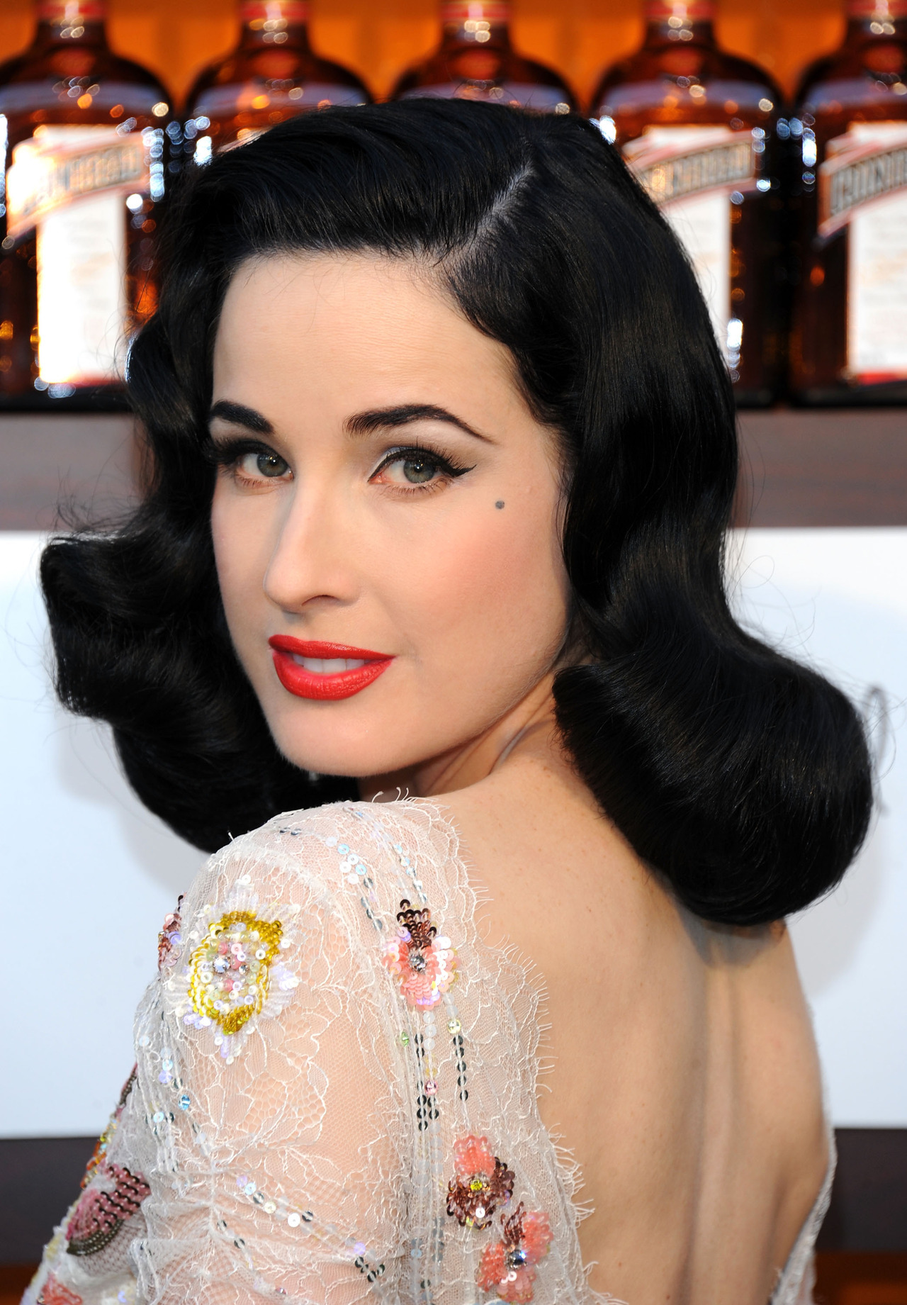 Dita Von Teese launches Cointreau Poolside Soirees in Beverly Hills, July 11th 2012