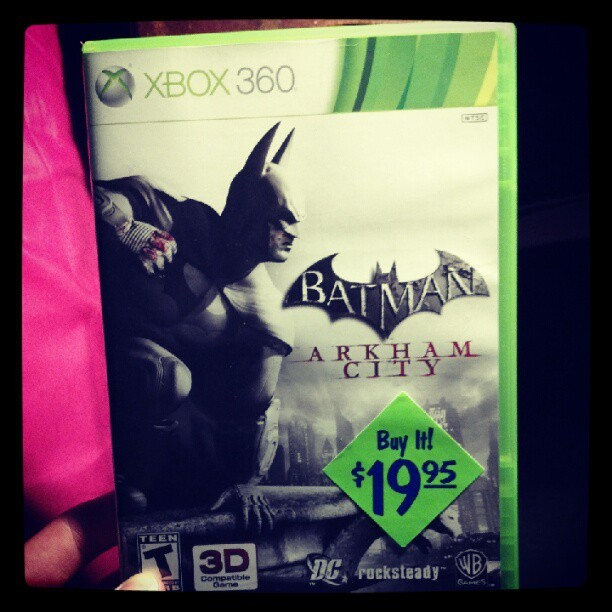 What a steal… yes please!!!!!! #batman #arkhamcity #batmanarkhamcity #xbox360 #badass #steal (Taken with Instagram)