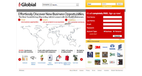 About Globial Imagine you're a small business with international aspirations. It's hard for you to trade with businesses in other countries because information is hard to find and communication is difficult. It isn't easy to trust a company you've never heard of located in a city 3000 miles away. We want to change that. Globial is all about making global trade easy and increasing trust in international business. We imagine a world where business opportunities come to you. We are to businesses what Facebook is to people. We connect the world's businesses, yet we also make it easier than ever to buy and sell.  We're the first business to business social network and marketplace. Globial is reshaping global business by fundamentally changing the way businesses communicate, buy, and sell with each other. By focusing on facilitating the creation of relationships between businesses, we're creating a community of trust and engagement between businesses. You would want to do business with people you have a relationship with—we make it easy. We already have 20,000+ businesses trading on Globial in only a few months, including big names like DHL, Chevron, 3M, Reliance, Huawei, and more. Yet, the majority of our members are small or medium sized businesses that use Globial to reach a global market. UI designer: Sunny Mui Original Article