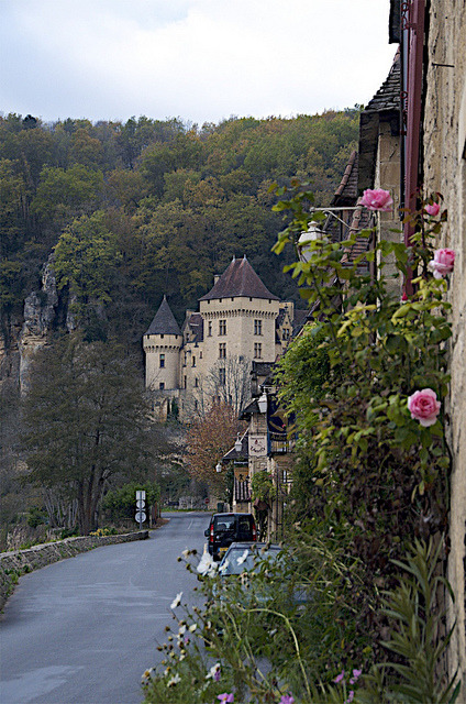 | ♕ |  Enchanting village - La Roque Gageac in Dordogne by © Drumsara | via ysvoice