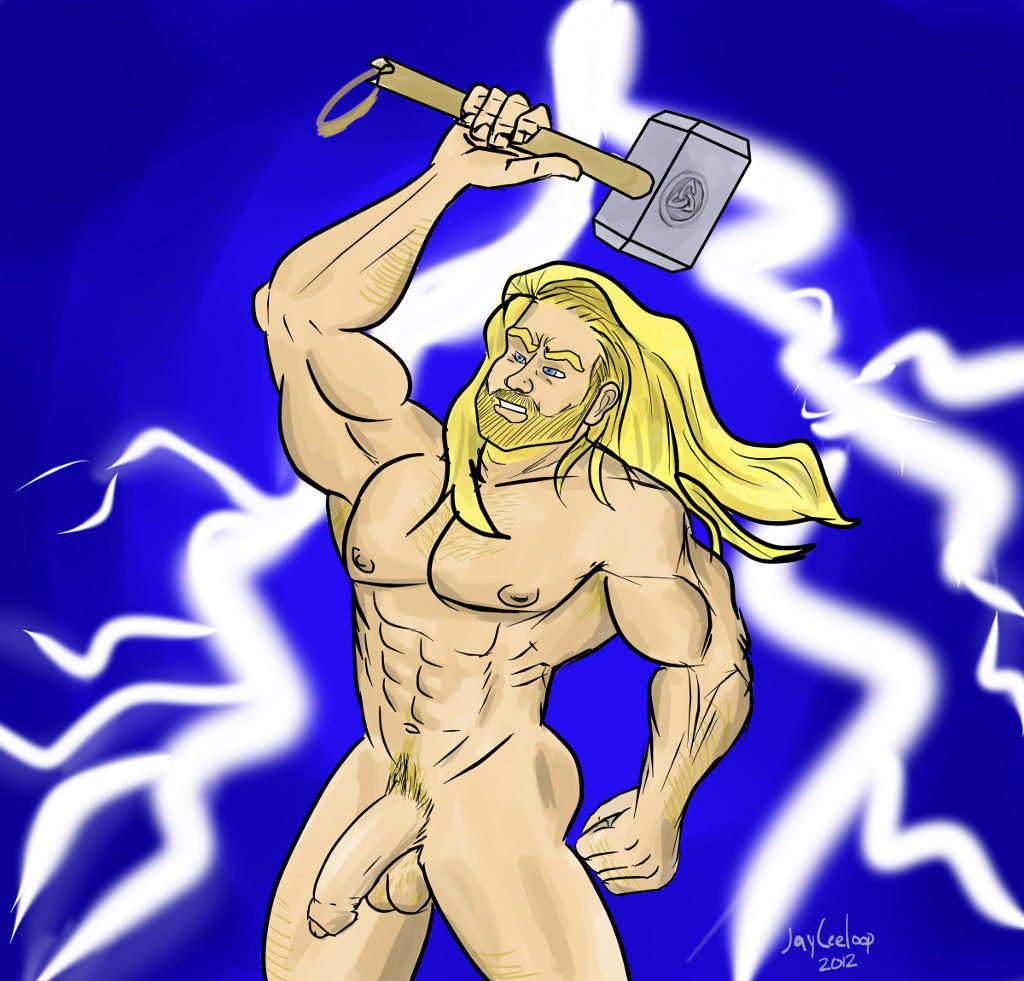 Thor: The God Of Thundurrr! on PaintTool SAI. <3 Long live Thor, and Chris.