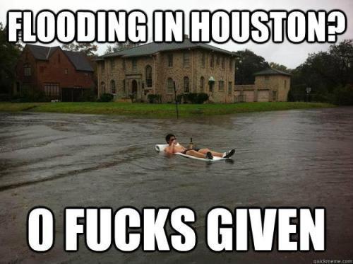 Haha, I love my city… and being flooded in. Real talk.