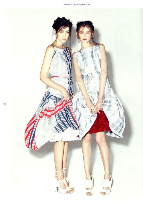 """Mixed Doubles""  Vika Torbina and Sophie Bailey by Greta Ilieva for Wonderland April/May 2012"