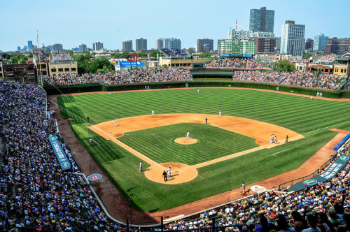 stadium-love-:  CHC by MBell1975 Wrigley Field: Home of the Chicago Cubs
