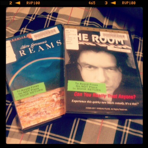 "Came home to these on my bed. One is a magnificent film by a powerhouse director. The other is Akira Kurosawa's ""Dreams."" My best friend knows me well."