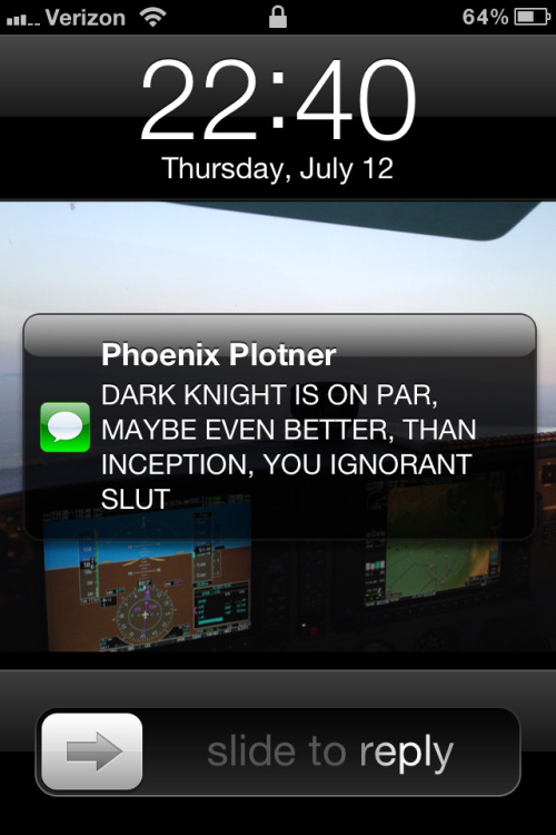 My friend found out that I've never seen The Dark Knight…