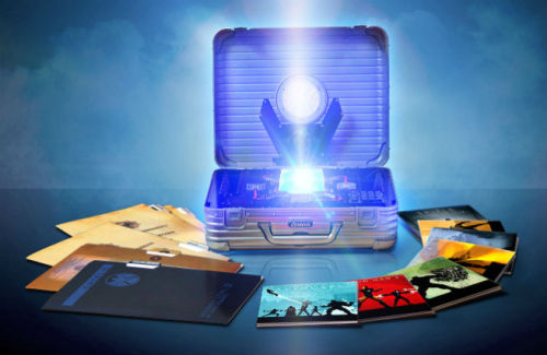 "cigarsandsilkhats:  This is Marvel's Phase One BluRay box set. It includes every current Marvel Superhero movie (obviously including the Avengers), three of them in collectible packaging, with an extra DVD specifically for previously unreleased special features, concept art and a working tesseract, all in Nick Fury's briefcase. As the great Spongebob once said, ""I NEEEEEDDDDD ITTTTTT"""