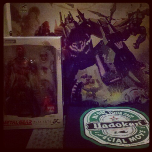 Thursday Loot.  Best SDCCU Exclusives EVER!!!  #bruticus #cyberninja #hadoken #transformers #metalgear #streetfighter #sdcc #exclusive #awesome (Taken with Instagram at Outer Heaven)