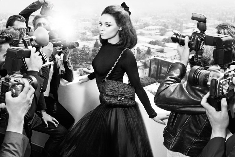 Mila Kunis photographed by Mario Sorrenti for Dior Fall 2012