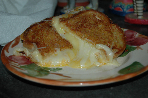 Grilled cheese sandwich.