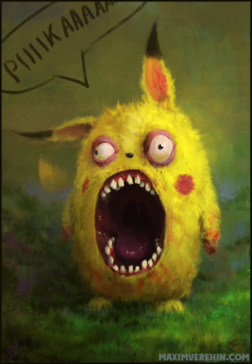 gamefreaksnz:  Pikachu by *Verehin on deviantART