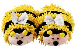 Bee - Fuzzy friends slippers