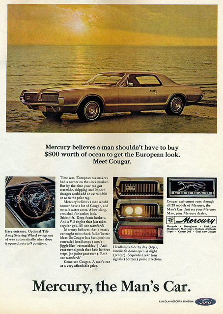 chromjuwelen:  1967 Mercury Cougar  by coconv on Flickr.1967 Mercury Cougar