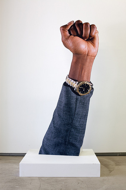"ivotemelkov:  Hank Willis Thomas - It's About Time, 2006 light-jet prints mounted on foamboard 72"" x 30"" x 24"""