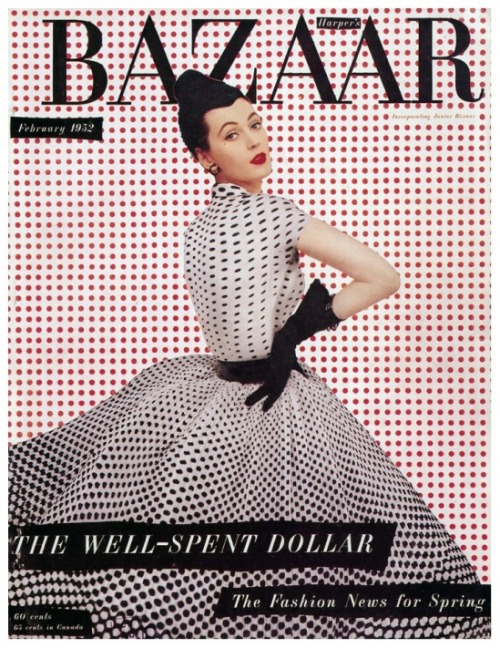 forestina:  Dovima Harper's Bazaar cover by Richard Avedon Feb. 1952