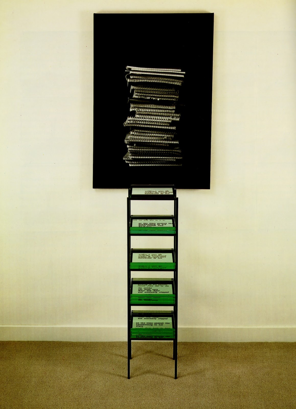 Lorna Simpson, Stack of Diaries, 1993.
