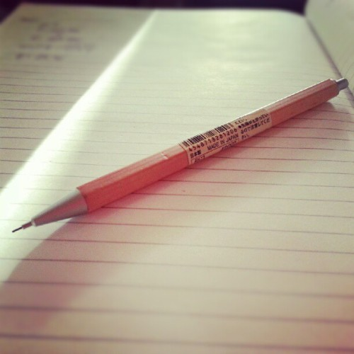cause i really love my #muji #pencil with me =] #schoolstuff  (Taken with Instagram)
