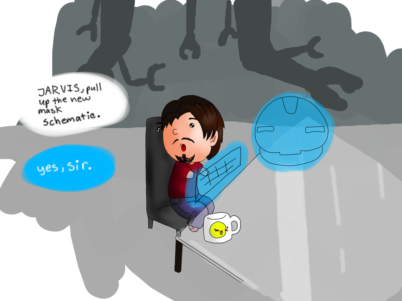 So I did a thingfor the consideration of the Avengers fandom: Chibi Tony