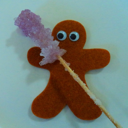 All things sugary. Gingerbread man with his coloured sugar crystals.