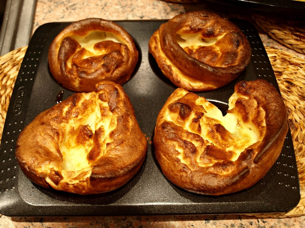 yorkshire pudding, as requested:-drooling? then you'll like these:- http://yummmaystuff.tumblr.com/