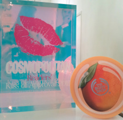 Mango Body Butter Wins Cosmopolitan's Kiss of Approval  We are extremely proud to announce that Mango Body Butter has won Cosmopolitan Readers' Kiss of Approval 2012 Award for Ultimate Body Lotion.