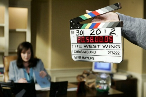 "yourouserabbles:  Filming The West Wing, ""Tomorrow""© Mitch Haddad/NBC"