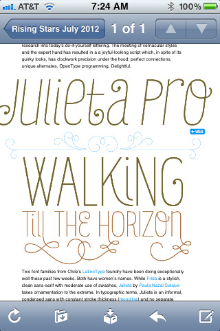 A new find in the My Fonts newsletter. OOoooOo La La.
